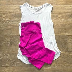 🆕 Lululemon Wunder Under Cotton Crops Pink